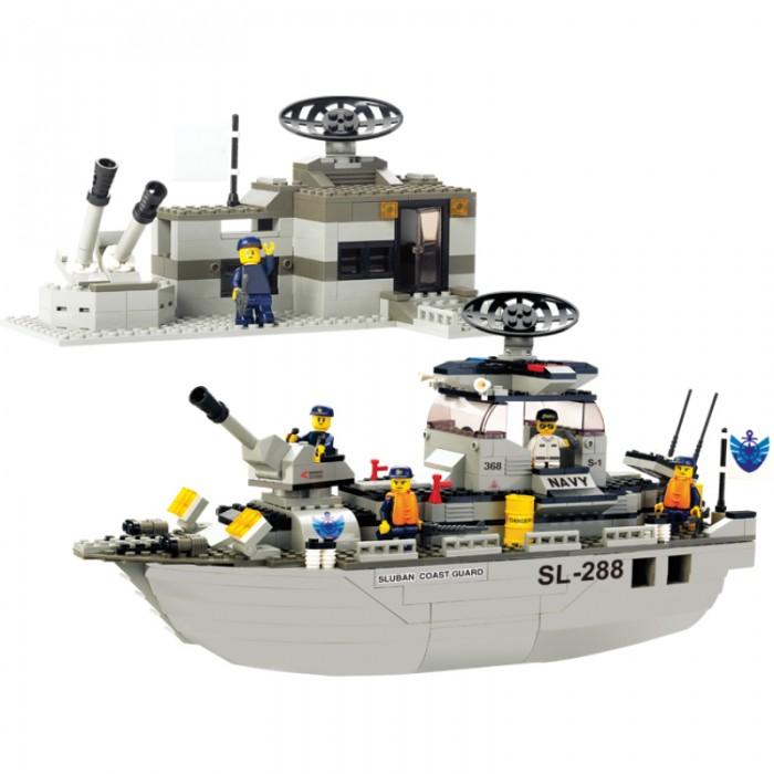 Конструкторы Sluban BOX Военный корабль Navy M38-B0122R (449 элементов) конструкторы sluban джип полиции m38 b700 45 элементов