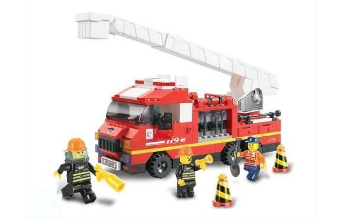 Конструкторы Sluban BOX Пожарные спасатели M38-B0221R (270 элементов) конструкторы sluban джип полиции m38 b700 45 элементов