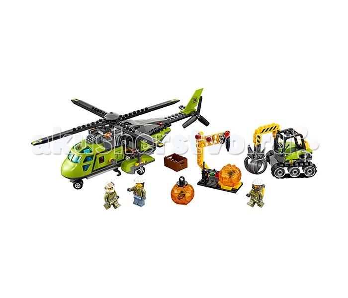 Конструктор Lego Город Грузовой вертолёт исследователей вулканов