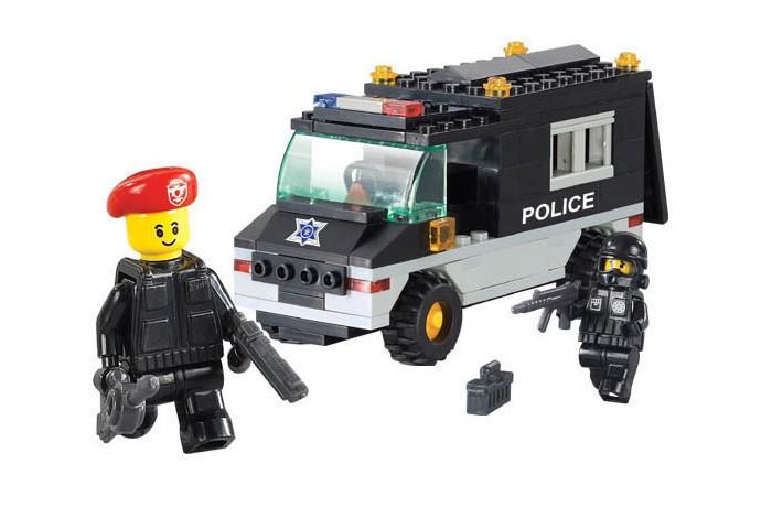 Конструкторы Sluban BOX Машина спецназа M38-B1600R (127 элементов) конструкторы sluban джип полиции m38 b700 45 элементов
