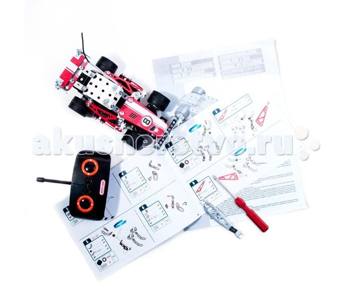 Meccano Гоночная машина Р/УГоночная машина Р/УMeccano Гоночная машина Р/У  Этот набор конструктора Meccano содержит всё необходимое для сборки одной из двух моделей автомобилей на радиоуправлении: раллийной машины или спорткара.  Конструкторы Meccano помогают развить в ребёнке фантазию, инженерное мышление и познакомить его с принципами работы простейших механизмов.  Все необходимые инструменты для сборки, двигатель и пульт управления входит в комплект. Батарейки приобретаются отдельно.<br>