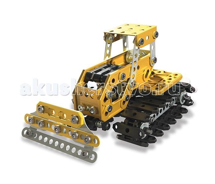 Meccano ЭкскаваторЭкскаваторMeccano Экскаватор  Набор довольно большой и включает в себя 254 детали желтого, черного цвета и цвета «металлик». Помимо металлических элементов, в наборе присутствуют детали, изготовленные из пластика. Все инструменты, необходимые для сборки конструктора, входят в комплект набора.  Данная модель представляет из себя набор «2 в 1», то есть из одного комплекта деталей Вы сможете собрать две различные модели строительной техники. Базовая модель этого набора – экскаватор. Альтернативная модель – бульдозер. Базовая модель имеет сборные подвижные гусеницы, поворачивающуюся на 360 градусов кабину и функциональную подвижную стрелу с ковшом. Альтернативная модель, бульдозер, имеет подвижные гусеницы и отвал.<br>