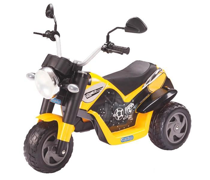 Электромобиль Peg-perego ScramblerScramblerДетский электромобиль Peg-Perego Scrambler подарит Вашему малышу море удовольствия! Детский мотоцикл Scrambler выглядит совсем как настоящий, он оборудован большими колесами, зеркалами заднего вида, ручным переключателем скоростей и педалью тормоза.   Для придания мотоциклу еще большей реалистичности, модель оснащена звуковыми эффектами, имитирующими работу двигателя. Электромотоцикл отличается превосходной проходимостью, на нем можно ездить не только в городу, но и на природе. Привлекательный и яркий желто-черный дизайн обязательно понравится малышу, а плавные амортизаторы и удобное сидение позволят кататься с удовольствием и комфортом даже на неровных поверхностях.  Максимальная скорость 4 км/ч Аккумулятор 6 Вольт (4.5 Ач) Для детей от 2 лет и старше<br>