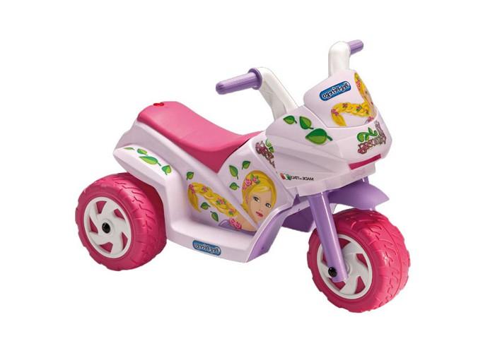 Электромобиль Peg-perego Raider Mini PrincessRaider Mini PrincessДетский электромобиль Peg-Perego Raider Mini Princess - cамая маленькая модель детского трицикла с электроприводом для езды по твердым ровным поверхностям создана специально для юных модниц.   Одноместный.  Выдерживает максимальную нагрузку до 15 кг.   Трициклом легко управлять. Он приводится в движение при нажатии на педаль и останавливается , если педаль отпустить.  Максимальная скорость 2,7 км/ч.  Время непрерывной работы при максимальной нагрузке 95 мин.  Время первой зарядки аккумулятора - 12ч (не более 24ч), время последующих зарядок - 8ч.  Аккумулятор и зарядное устройство входят в комплект.<br>