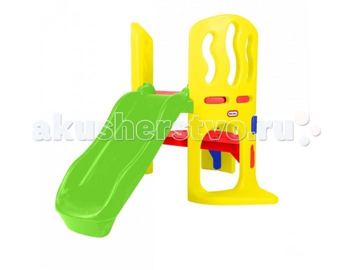 Little Tikes Мини игровой комплексМини игровой комплексМини игровой комплекс выполнен в виде горки из ударопрочного пластика желтого, красного, зеленого и красного цветов. Монтировать его не составит никакого труда. Конструкция горки такова, что позволяет малышу с легкостью забраться на нее самостоятельно, а также обеспечивает плавное скольжение и легкое приземление. Широкие подставки прочно удерживают мини-комплекс на земле или полу. Пространство под горкой и ступеньками вполне подходит для игры в прятки.  Покупая игровой мини-комплекс Литл Тайкс, вы не только дарите малышу радость и непередаваемые эмоции, но и помогаете ему в развитии, для которого физическая активность и игры на свежем воздухе чрезвычайно важны. Горка предназначена для детей от 2 до 5 лет, выдерживает температуру до 18°C.<br>