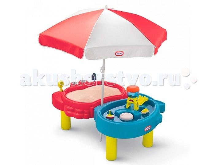 Летние товары , Песочницы Little Tikes Стол-песочница с зонтом арт: 137630 -  Песочницы