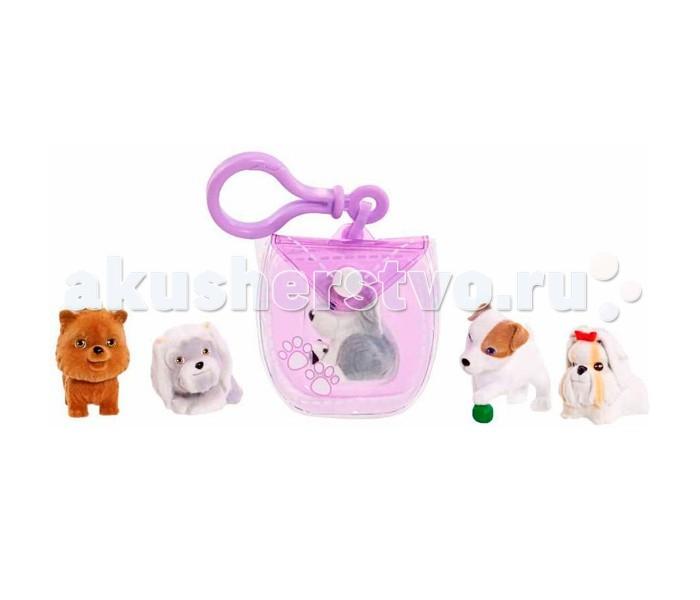 Игровые наборы Just play Puppy in my pocket брелок-сумочка фиолетовая и 5 щенков брелок fat doraemon s pocket