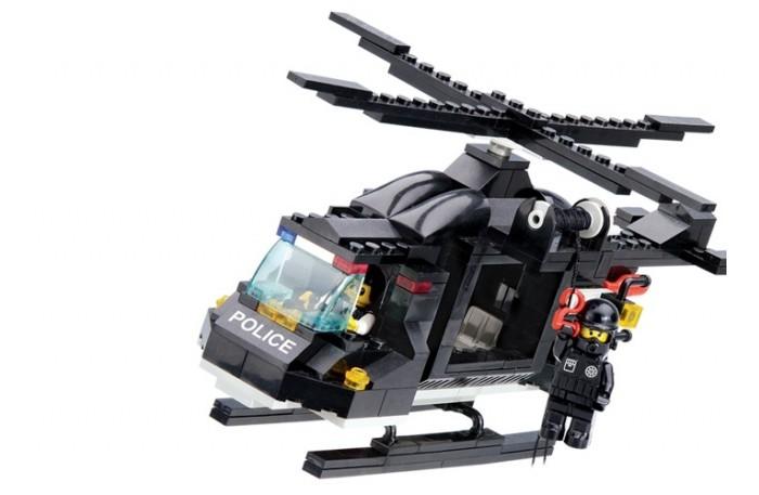 Конструкторы Sluban Вертолёт полиции M38-B1800R (219 элементов) конструкторы sluban джип полиции m38 b700 45 элементов