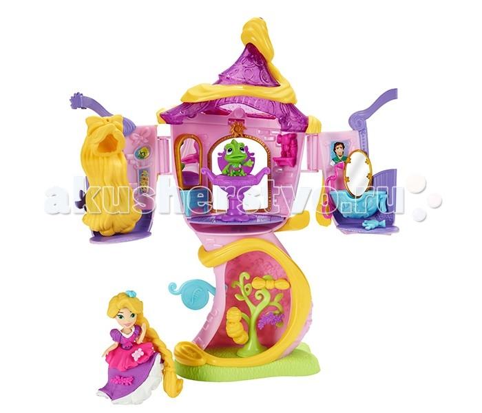 Hasbro Disney Princess башня РапунцельDisney Princess башня РапунцельDisney Princess башня Рапунцель! Именно в нем длинноволосая красавица прожила все годы своего заточения! На втором этаже расположены три комнаты. В одной Рапунцель может прихорашиваться, менять прически. В другой расположены зеркало, небольшой комод и стул-трон. В ванной комнате принцесса может расслабиться и помечтать о своем возлюбленном красавце принце. На первом этаже растет причудливое деревце.  Меняй образы красавице Рапунцель по своему усмотрению! Ей можно менять прически и украшать их разнообразными аксессуарами. Также можно декорировать пышное платье принцессы. Кроме того, в комплект входит миниатюрная фигурка любимого питомца Рапунцель - прелестного хамелеона Паскаля.<br>