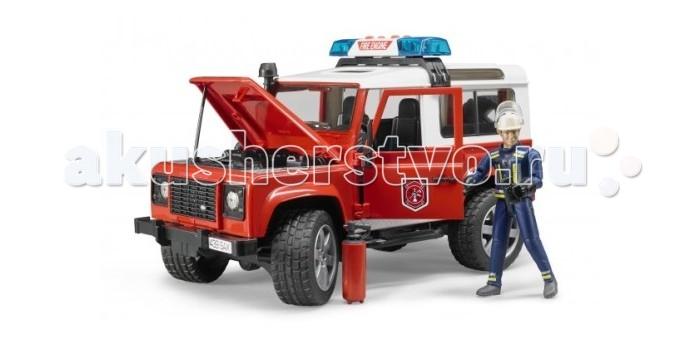 Машины Bruder Внедорожник Land Rover Defender Station Wagon Пожарная с фигуркой руководящий насос range rover land rover 4 0 4 6 1999 2002 p38 oem qvb000050