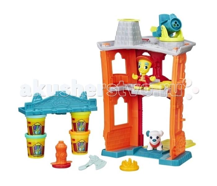 Всё для лепки Play-Doh Игровой набор Город Пожарная станция наборы для лепки play doh игровой набор сумасшедшие прически