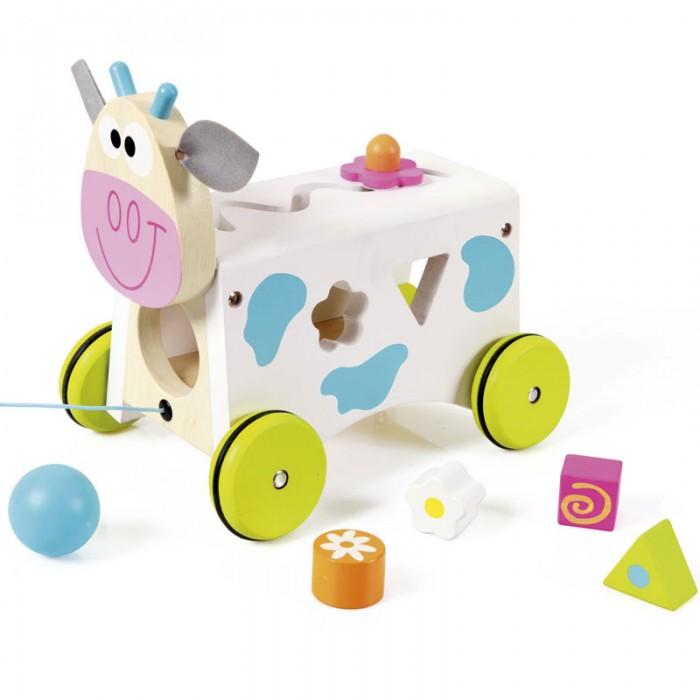 Фото - Каталки-игрушки Scratch Сортер-каталка Корова Мари plantoys сортер каталка plan toys автобус