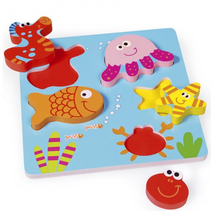 Деревянная игрушка Scratch   Пазл-вкладыш Морская жизньПазл-вкладыш Морская жизньScratch Пазл-вкладыш Морская жизнь.  Деревянный пазл Морская жизнь станет прекрасным помощником Вашему малышу в развитии мелкой моторики, логического мышления и внимания.<br>