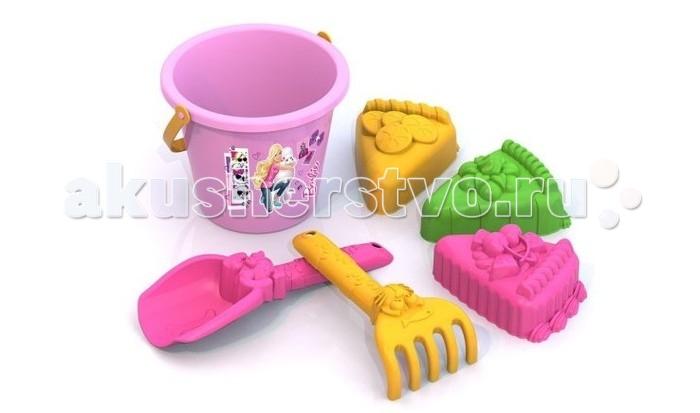 Подробнее о Нордпласт Набор для песка Барби №3 нордпласт набор кухонной и чайной посудки барби 21 предмет нордпласт