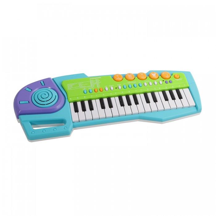 Музыкальная игрушка Potex Синтезатор Cute Melody 32 клавиши 942ВСинтезатор Cute Melody 32 клавиши 942ВМузыкальная игрушка Potex Синтезатор Cute Melody 32 клавиши 942В. Для развития музыкального таланта и проявления творческих способностей, предлагаем вашему вниманию детский синтезатор, который имеет дополнительные мелодии и инструментальные звуки.   Компактный синтезатор не займет дома много места, поэтому его очень удобно использовать в качестве домашнего музыкального инструмента. Яркий синтезатор оснащен функцией записи и воспроизведения, а так же очень прост в использовании, в следствие чего Вашему ребенку не составит труда приобщиться к миру музыки, при этом обогатив внутренний мир.<br>