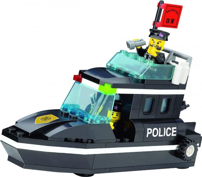 Конструкторы Enlighten Brick Police Speedboat 130 (95 элементов)