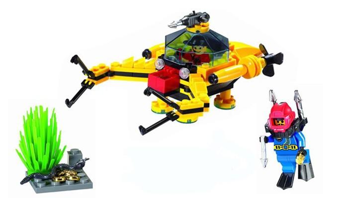 Конструкторы Enlighten Brick Батискаф 1214 (129 элементов) 1214 enlighten city series treasure digging submarine model building blocks diy action figure toys for children compatible legoe