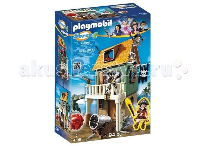 Конструктор Playmobil Супер4: Замаскированный Пиратский Форт с РубиСупер4: Замаскированный Пиратский Форт с РубиКонструктор Playmobil Супер4: Замаскированный Пиратский Форт с Руби  В наборе: Пиратский форт 2 фигурки Пушка 2 Ядра Аксессуары.<br>