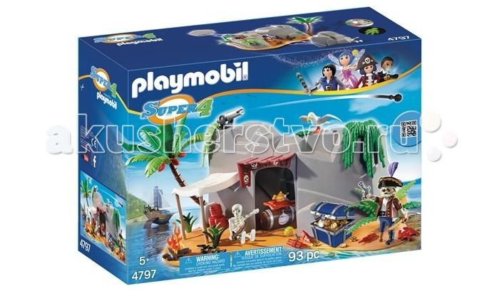 Конструкторы Playmobil Супер4: Пещера Пирата конструктор playmobil модный бутик девушка в летнем наряде 6882pm
