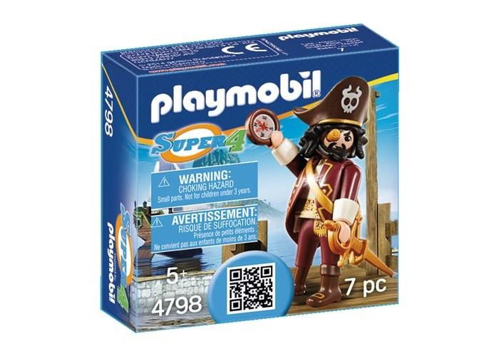 Конструкторы Playmobil Супер4: Акулья борода конструкторы playmobil лодка с браконьерами