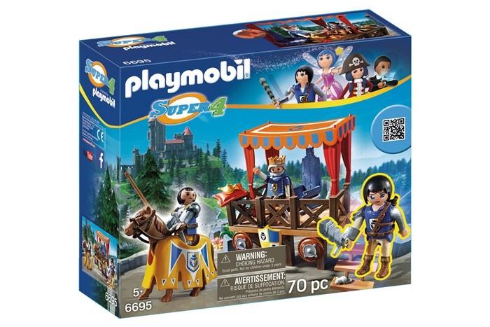 Конструкторы Playmobil Супер4: Королевская Трибуна с Алексом playmobil® playmobil 5110 конный клуб трекерная лошадь со стойлом