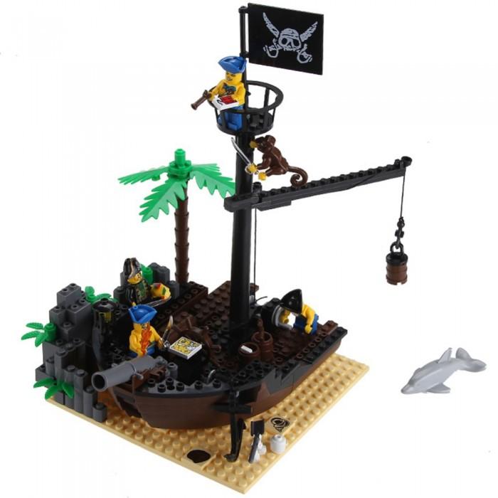 Конструкторы Enlighten Brick Пиратский док 306 (178 элементов) конструктор enlighten brick серия полиция спасательный центр 528 деталей