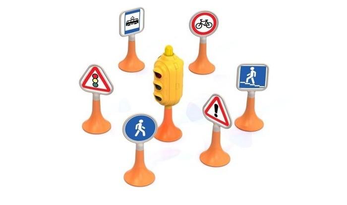 Ролевые игры Нордпласт Набор Дорожные знаки №1 светофор 6 знаков dickie светофор набор дорожных знаков 24 см 3741001