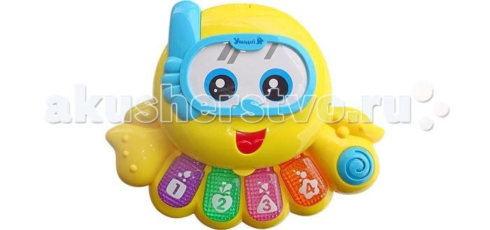 Электронные игрушки Zhorya Музыкальная Осьминожка со светом электронные игрушки bradex станция музыкальная мелодия детская