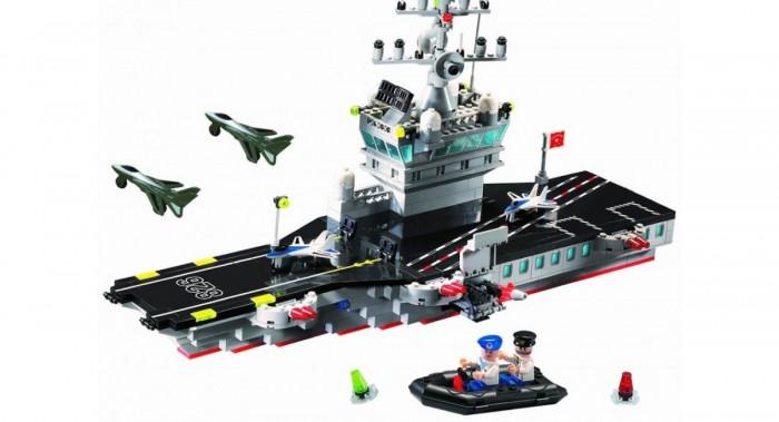 Конструктор Enlighten Brick Корабль-самолётоноситель 826 (508 элементов)