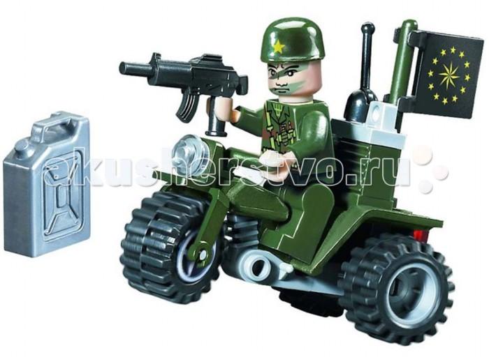 Конструкторы Enlighten Brick Военный мотоцикл 802 (24 элемента) конструктор enlighten brick каток c1104 1104
