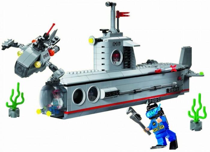Конструкторы Enlighten Brick Субмарина 816 (382 элемента) конструктор enlighten brick каток c1104 1104