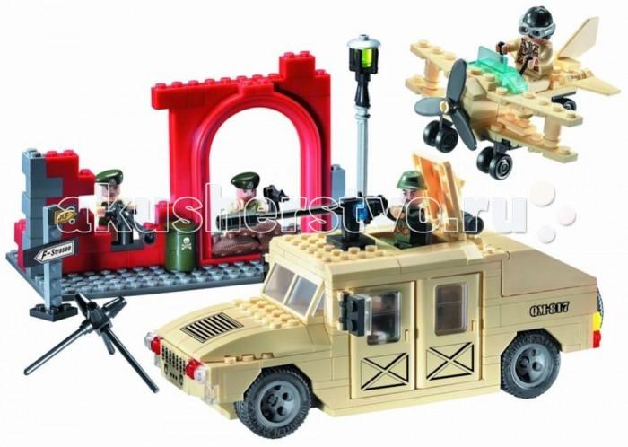Фото - Конструкторы Enlighten Brick Джип военный 817 (323 элемента) конструктор enlighten brick город 1118 скорая помощь г72906