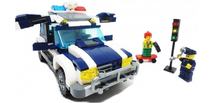 Конструкторы Enlighten Brick Джип полиции 1117 (394 элемента) конструктор enlighten brick каток c1104 1104