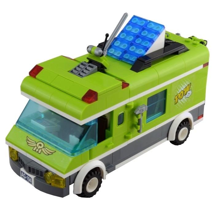 Конструкторы Enlighten Brick Зелёный фургон 1120 (380 элементов) конструктор enlighten brick каток c1104 1104