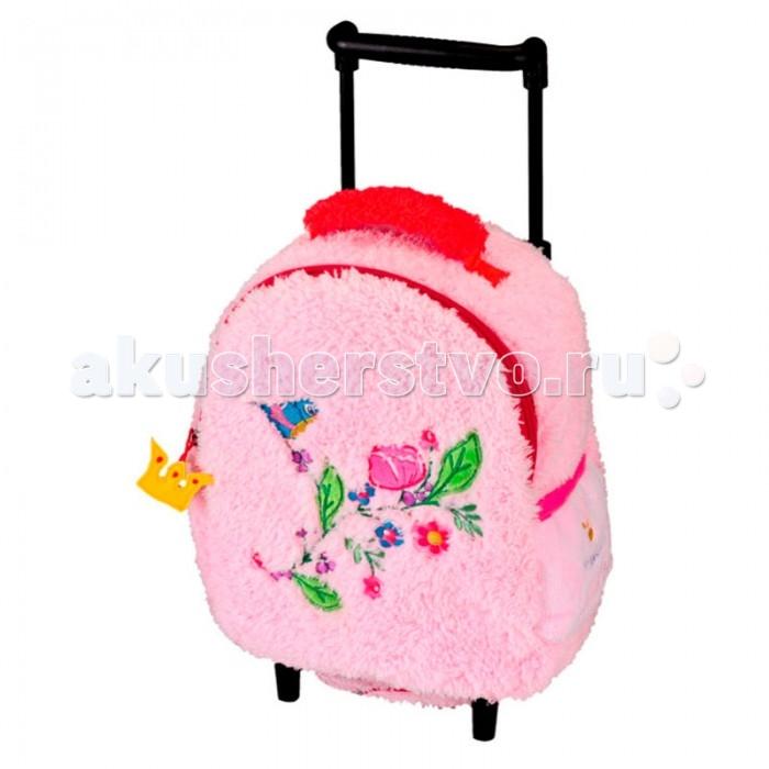 Spiegelburg Мини-чемодан Prinzessin LillifeeМини-чемодан Prinzessin LillifeeSpiegelburg Мини-чемодан Prinzessin Lillifee.  Мягкий плюшевый чемодан Prinzessin Lilifee для самых маленьких девочек! Удобная телескопическая ручка с двумя положениями, две дополнительные ручки и колесики. Нежно розовая ткань украшена вышивкой, а молния очаровательным брелком-короной. С таким чемоданчиком любая малышка сможет почувствовать себя принцессой!  Общие характеристики  телескопическая ручка, 2 положения  1 ручка для переноски  однополосная молния  2 колесика и опорные ножки  внешний карман на молнии.<br>