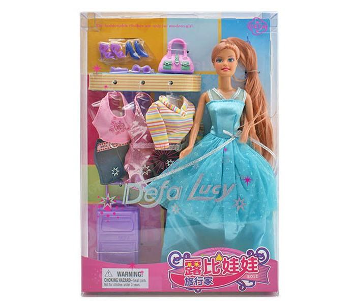 Куклы и одежда для кукол Defa Кукла Defa Люси в вечернем платье с аксессуарами арт.8012 кукла defa lucy невеста 8341