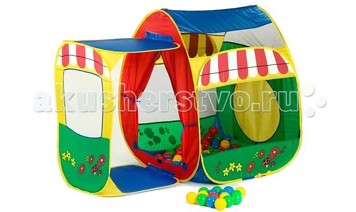 Палатки-домики Calida Дом-палатка + 100 шаров Домик с пристройкой