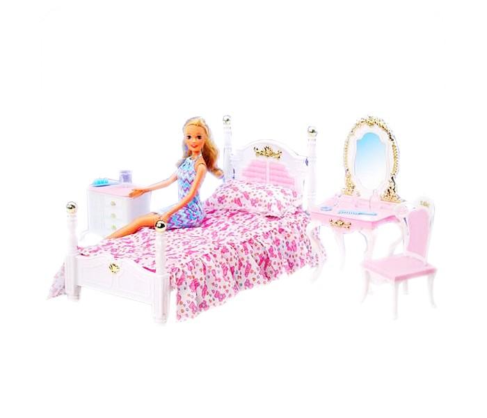 Кукольные домики и мебель Глория Набор игровой Спальня 2319 спальня глория