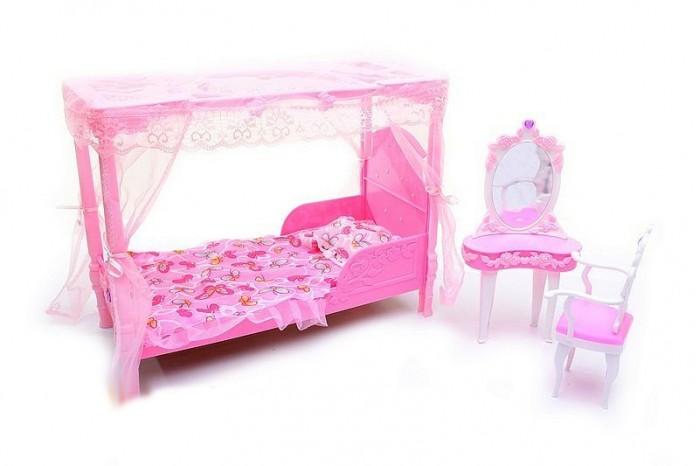 Кукольные домики и мебель Глория Набор мебели для кукол Спальня 2614