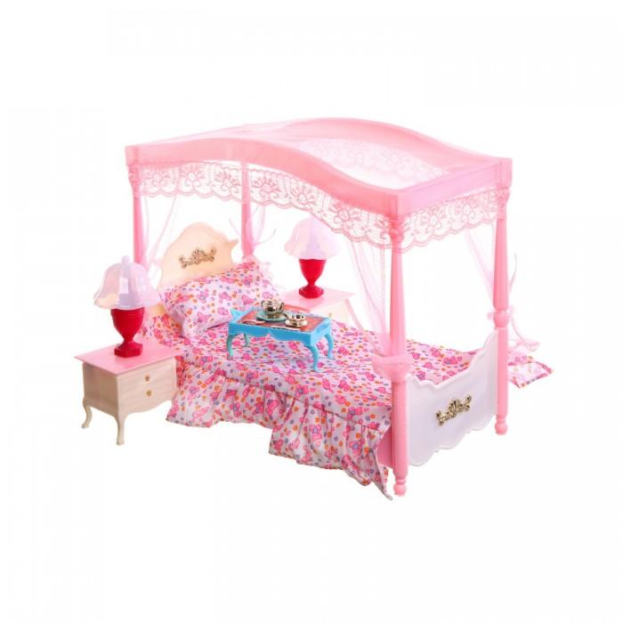 Кукольные домики и мебель Глория Набор мебели для кукол Кровать с балдахином 2314 кукольные домики и мебель classic world кроватка для кукол