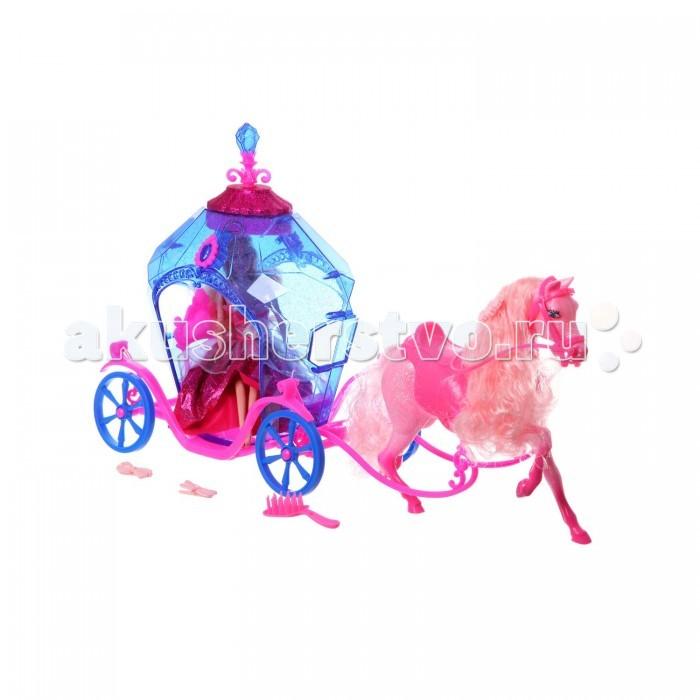 Jinni Игровой набор музыкальный Экипаж кукла с аксессуарами 83142Игровой набор музыкальный Экипаж кукла с аксессуарами 83142Jinni Игровой набор музыкальный Экипаж кукла с аксессуарами 83142. Шикарная карета с лошадью для любимых кукол! Набор, который оценит любая девочка, любящая играть в куклы.   Теперь любимая кукла, как золушка сможет перемещаться в карете с красивой лошадкой!   В наборе идет, кукла принцесса, карета и лошадка.<br>
