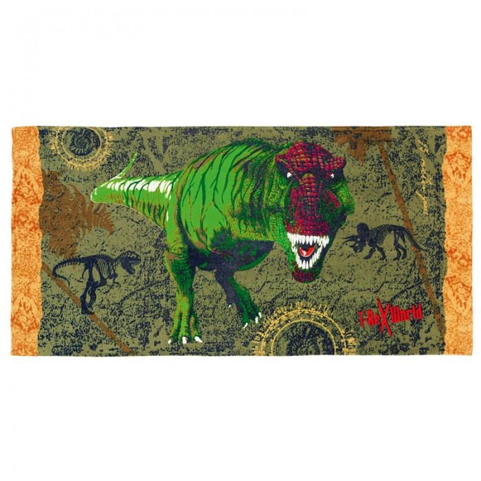 Spiegelburg Полотенце банное T-RexПолотенце банное T-RexSpiegelburg Полотенце банное T-Rex.  Банное полотенце T-REX оформлен в зеленых тонах с изображением страшно-опасного динозавра Тираннозавра. Обладает высокой степенью впитывания влаги.<br>