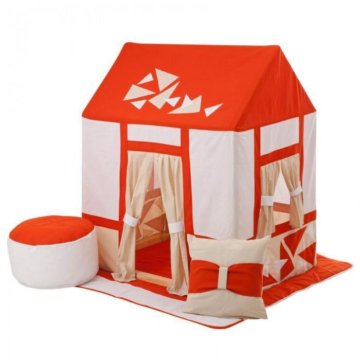 Paremo Текстильный домик с пуфиком Замок СомерсетТекстильный домик с пуфиком Замок СомерсетParemo Текстильный домик с пуфиком Замок Сомерсет PCR116-03 Текстильный домик-палатка с пуфиком Замок Сомерсет PAREMO разработан для девочек и мальчиков старше 3-летнего возраста, поскольку именно в этот период основной детской активностью становится сюжетно-ролевая игра, и возникает потребность в организации отдельного личного пространства. Самым оптимальным решением для совмещения 2-ух этих важных для становления личности ребенка потребностей является оснащение персонального игрового пространства. В помощь мамам и папам дизайнеры PAREMO разработали новую серию закрытых игровых текстильных домиков, ярких и функциональных. - Игровая палатка для детей Замок Сомерсет представляет собой домик с деревянным каркасом и хлопковым стилизованным чехлом, фиксирующемся завязками в основании домика. - Каркас деревянный, требует сборки перед началом эксплуатации. По размерам подходит под стандартные дверные проемы, облегчая перемещение игрушки между комнатами квартиры. - Текстильная часть домика выполнена в сочетании 3-х цветов, оранжевого, белого и бежевого, с отделками в виде кирпичных вставок и нежными бежевыми шторками. - В домике большой дверной проем и 2 окошка. Дверь и окна смягчают образ домика пастельными шторками, которые можно либо открыть, используя подвязки на проемах, либо полностью закрыть. - Все текстильные элементы легко снимаются, что очень удобно для стирки и ухода за игрушкой. В комплект поставки игрового набора «Замок Сомерсет» входит: - Каркас дома; - Игровой чехол в виде домика; - Двусторонний игровой коврик в основание домика; - Подушка; - Пуфик; - Фурнитура для сборки каркаса; - Инструкция по сборке. Отличительные особенности: Игрушку отличает стильный и яркий дизайн домика с украшениями в виде кирпичной кладки, который, несомненно, порадует мальчишек и девчонок. Но главным достоинством игрового набора «Замок Сомерсет» PAREMO являются его комплектность и габариты. 