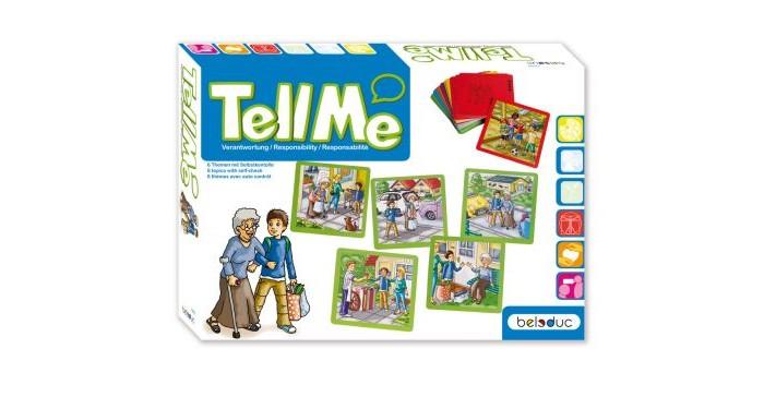 Beleduc Развивающая игра ОтветственностьРазвивающая игра ОтветственностьBeleduc Развивающая игра Ответственность   Особенности: Познавать, учиться и рассказывать - вот, что предлагают карточки, разбитые на шесть тем и изображающие различные ситуации.  На каждую тему дано по 5 карточек, которые необходимо расположить в правильном порядке.  Обратная сторона каждой карточки снабжена подсказкой.  В ходе игры ребенок может познакомиться с повседневными ситуациями в жизни. Кроме того, игра способствует развитию речи ребенка.  Во время плавания или катания на велосипеде несчастный случай может произойти в любой момент!  Иногда можно быстро отстать от родителей, занятых покупками в большом универмаге. Что нужно делать в подобных ситуациях? На карточках представлены следующие темы: несчастный случай с велосипедом, универмаг, бассейн, незнакомые люди, лифт, пожарная тревога.   Развивающая игра включает 30 карточек (15 х 15 х 0,1 см; 6 тем, каждая из которых представлена на 5 карточках).<br>