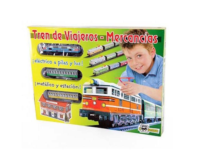Pequetren Железная дорога 1 локомотив 2 вагона со станцией 3,4 м эллипс