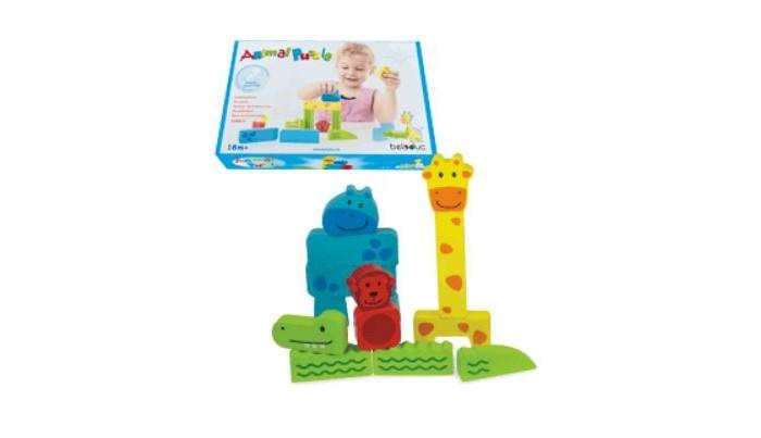 Деревянные игрушки Beleduc Зоопарк деревянные игрушки beleduc развивающая веселый бегемотик