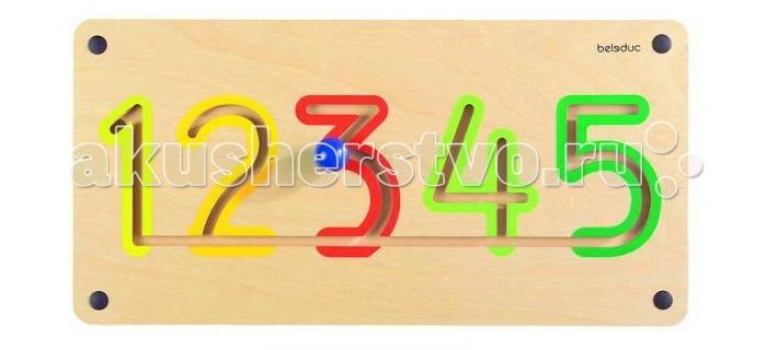 Деревянная игрушка Beleduc Настенный игровой элемент Цифры от 1 до 5Настенный игровой элемент Цифры от 1 до 5Beleduc Настенный игровой элемент Цифры от 1 до 5  Настенный игровой элемент развивает детскую моторику, математические навыки и совершенствуют координацию движений ребенка.   Ребенок учит цифры от 1 до 5.<br>