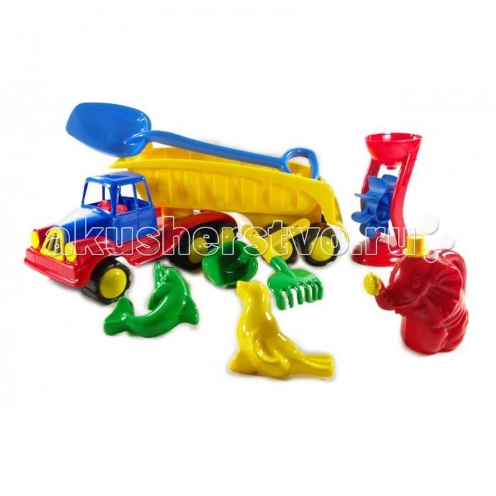Машины Hemar Авто Хемар-тягач с песочным набором вставки между фар в цвет машины золото инков для авто 2112