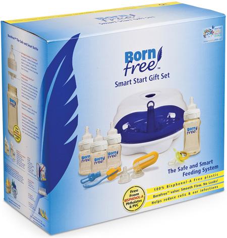 Аксессуары для кормления , Наборы для кормления BornFree Подарочный набор Умное начало (9 предметов) арт: 14162 -  Наборы для кормления