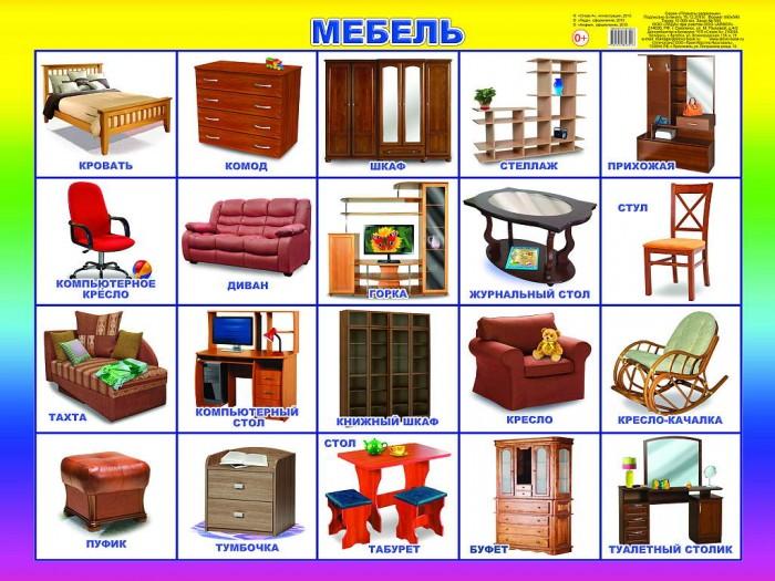 Обучающие плакаты Алфея Плакат Мебель мебель
